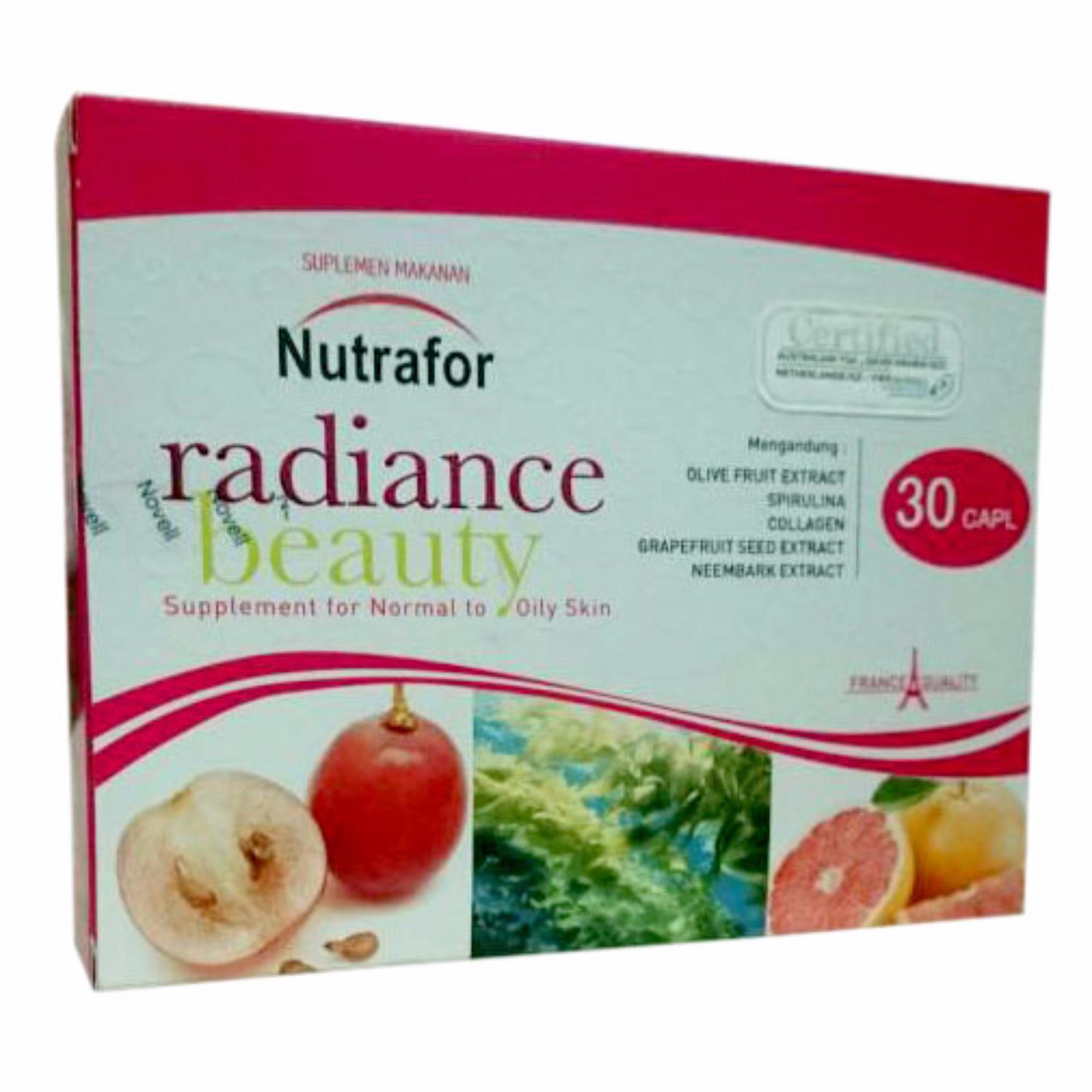 Toko Delin Store Nutrafor Radiance Beauty 1 Box Vitamin Untuk Kulit Berminyak Kulit Berjerawat Bisa Cod Novell Pharmaceuticals
