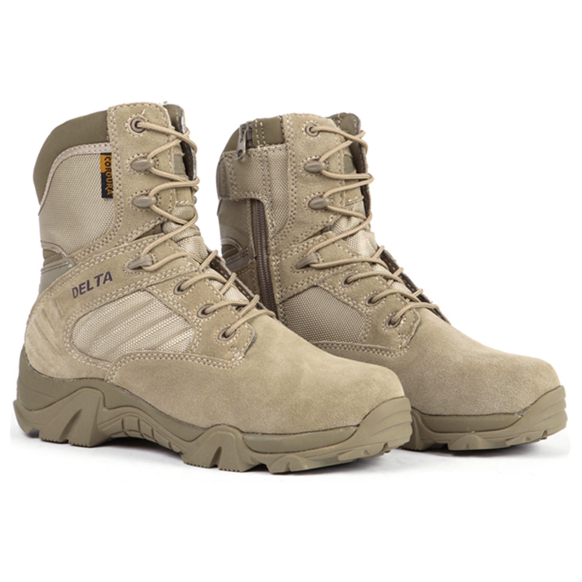 Harga Delta 516A Sepatu Pria Tactical Outdoor Coklat Delta Baru