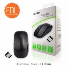 Promo Delux M136 1600Dpi Wireless Optical Mouse Black Garansi Resmi 1 Tahun