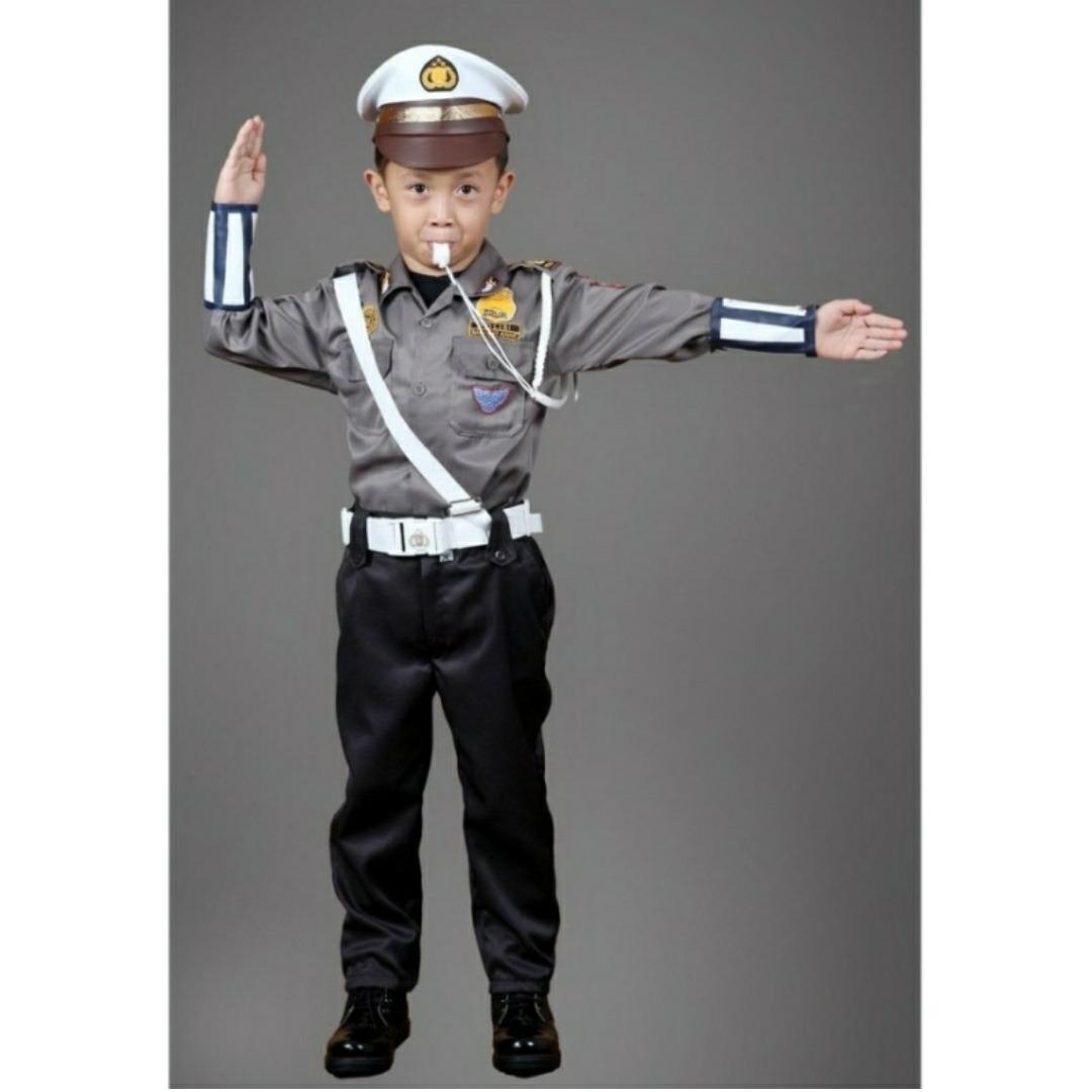 Denai Store - Seragam Profesi Untuk Anak TK Dan SD /Baju Karnaval Anak / Polisi / Polwan / Angaktan Udara (AU) / Angkatan Laut (AL) / AKABRI / AKPOL / TNI / ABRI / Pemadam Kebakaran (DAMKAR) / Pilot / Koki / Astronot /Untuk Anak 3 sampai 7 Tahun