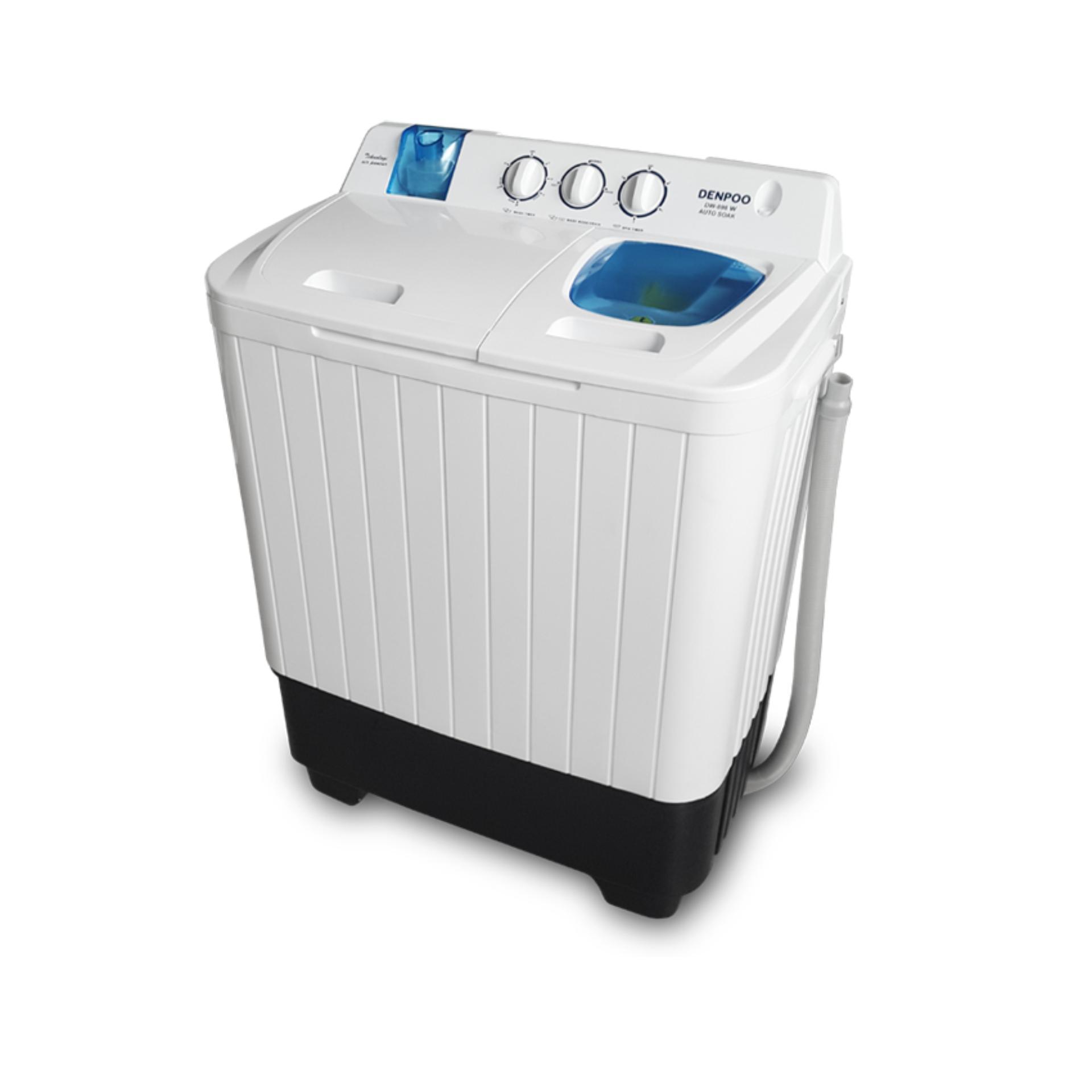 Denpoo Mesin Cuci DW898W 2 Tabung - Putih - Gratis Pengiriman Khusus Wilayah Tertentu