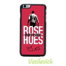 Derrick Rose NBA Basketball Phone Case PC Berkualitas Tinggi + Karet + Karet Cover untuk Apple Iphone 7 Plus- INTL