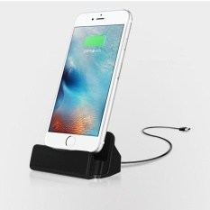 Meja Charger Charge dan Sync Stand untuk IPhone 7 6 S PLUS 6 S 6 6 Plus 5 S 5 Desktop Charger Iphone Warna: Hitam