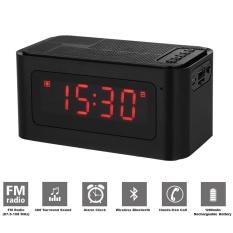 Desktop Speaker Bluetooth Jam Alarm Radio FM MP3 Player Kartu TF Pembaca U Disk Bebas Genggam With Mikrofon Tampilan LED