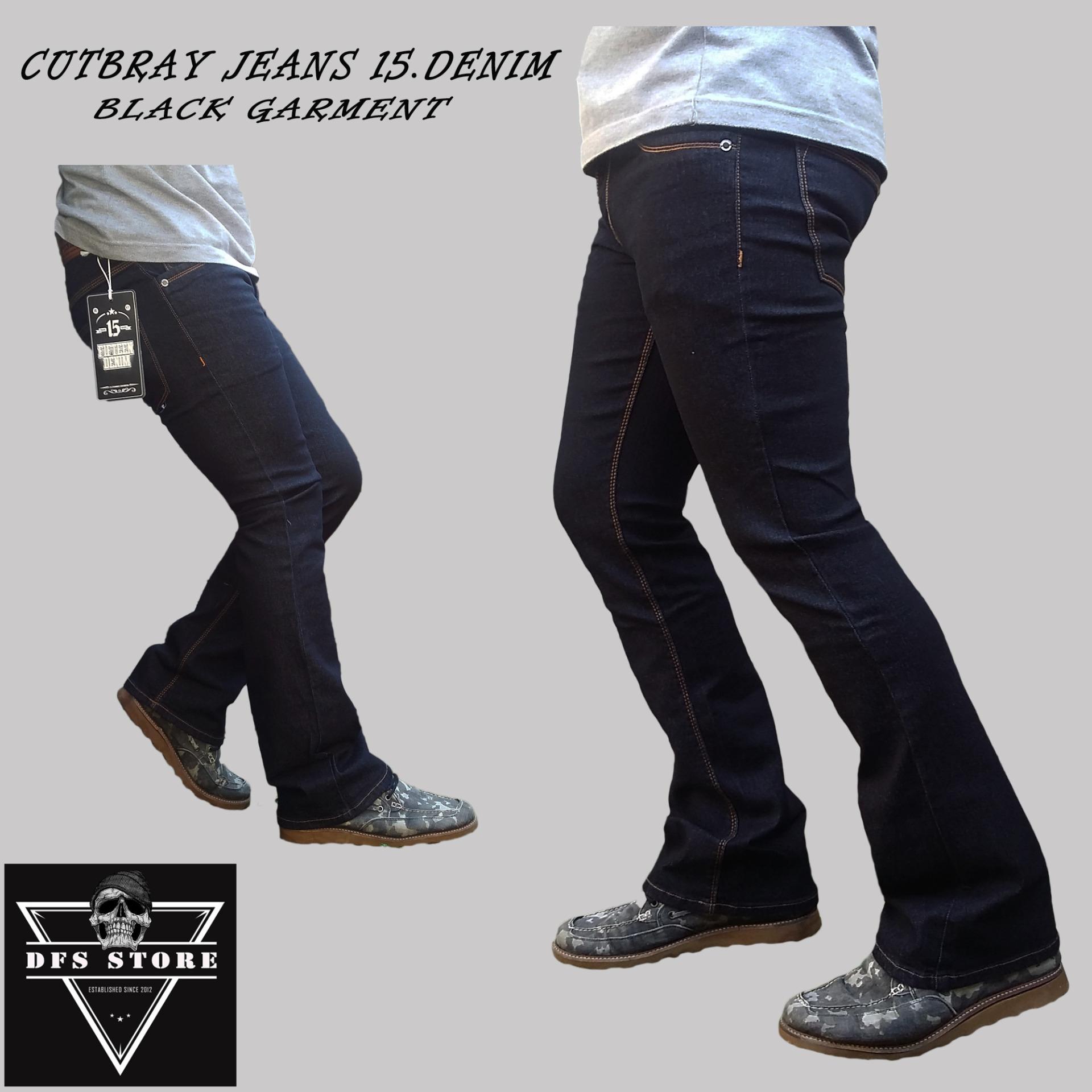 Jual Dfs Celana Jeans Denim Cutbray Rpia Hitam Garment