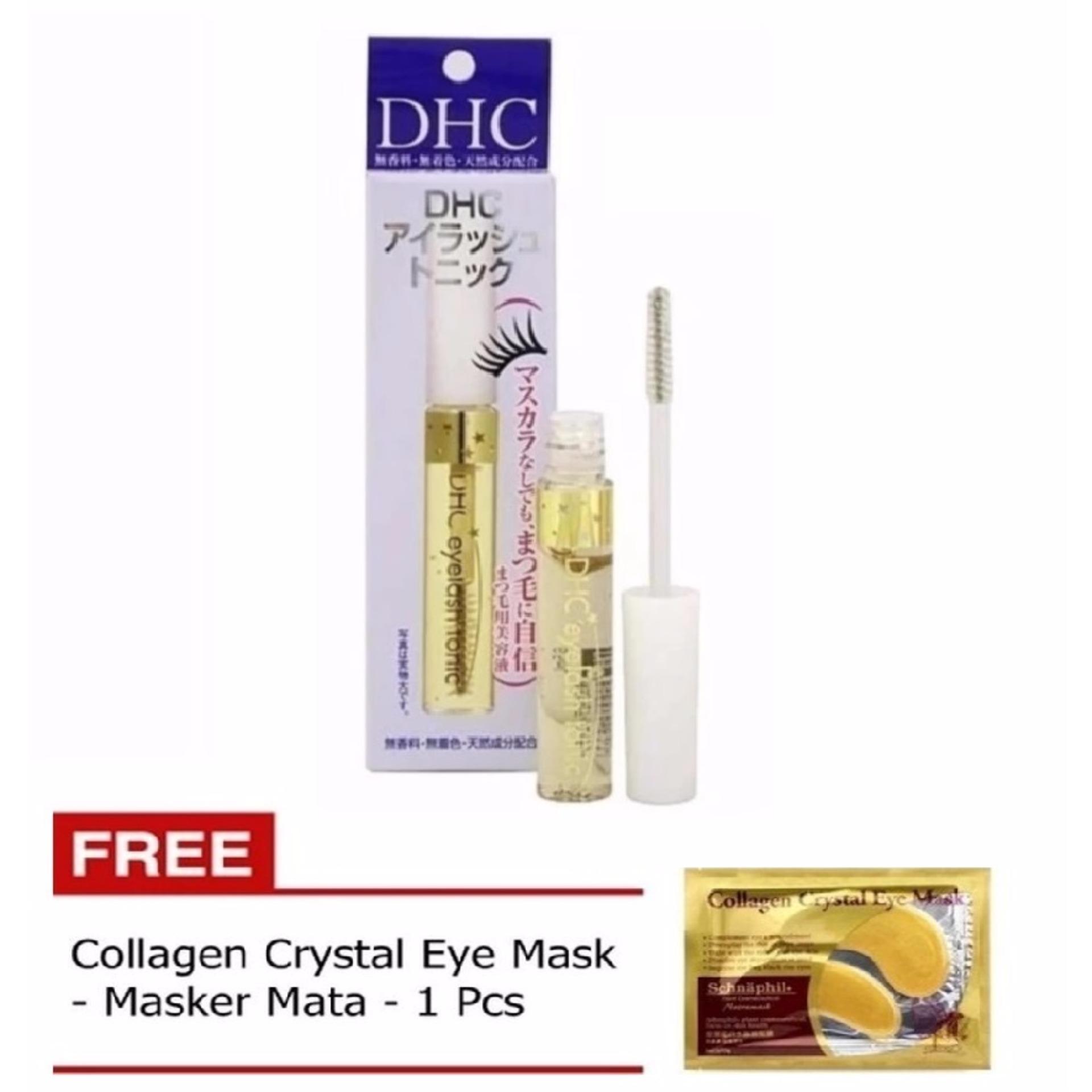 DHC Eyelash Tonic Relian - Serum Pemanjang bulu mata - 1 Buah + Gratis Collagen Eye Mask - Collagen Masker Mata - 1 Buah