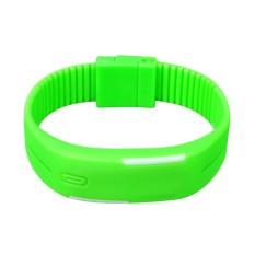 DHS LED Silicone Kontrol Sentuh Jam Tangan Elektronik Hijau Neon-Intl