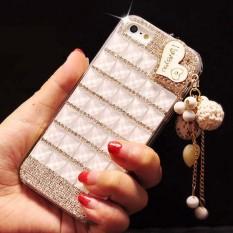 Berlian Case untuk Xiaomi Redmi Note 5A Bibir Bling Kristal Berlian Buatan Sarung Coque Fundas-Internasional
