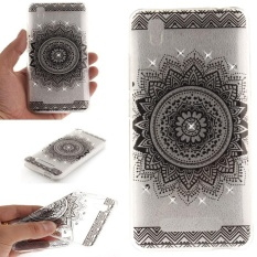Diamond Slim TPU Soft Case Cover Kulit untuk ZTE Blade A452 (Hitam Mandala)-Intl