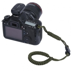 Digital Camera Hand Strap Outdoor Emergency Survival Camera Wrist Bracelet (Army Green) - intl