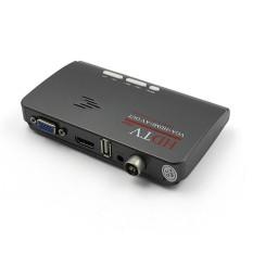 Digital HDMI DVB-T T2 Dvbt2 TV VGA Receiver Berkinerja Tinggi Converter dengan USB Tuner Remote Control Steker INGGRIS- INTL