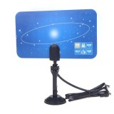 Harga Digital Indoor Tv Antenna Hdtv Dtv Hd Vhf Uhf Flat Design High Gain Eu Plug Intl Not Specified