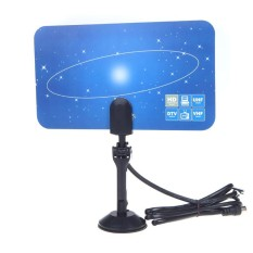 Beli Digital Indoor Tv Antenna Hdtv Dtv Hd Vhf Uhf Flat Design High Gain Eu Plug Intl Seken