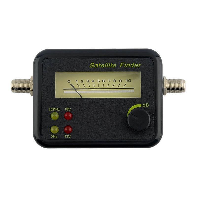 Digital Lcd Satfinder Satellite Finder Kekuatan Sinyal Meter Untuk Dish Freesat Terbaru