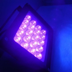 Digoo 85-265 V 20 W High Power LED UV Light untuk Blacklight Aquarium Curing Light Silver US Plug -Intl