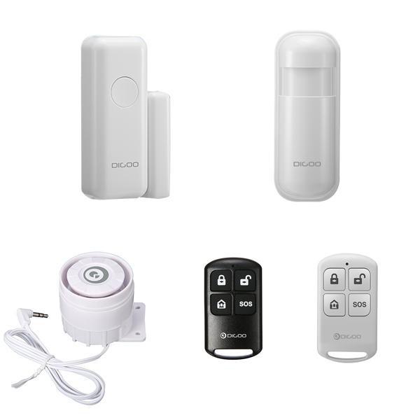 Digoo DG-HOSA Wireless PIR MOTION Detector Alarm Keamanan Rumah Sistem FR GSM SMS Putih-Intl