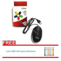Mouse USB Kabel Optical Komputer + USB STICK LED - Hitam / Mouse Komputer / Mouse