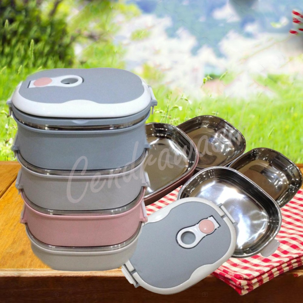 The Cheapest Price Rantang 4 Susun Plastik Citra Kedap Udara Rp65000 Tupperware Click To Go Dinemate Eco Lunch Box Stainless Steel Oval