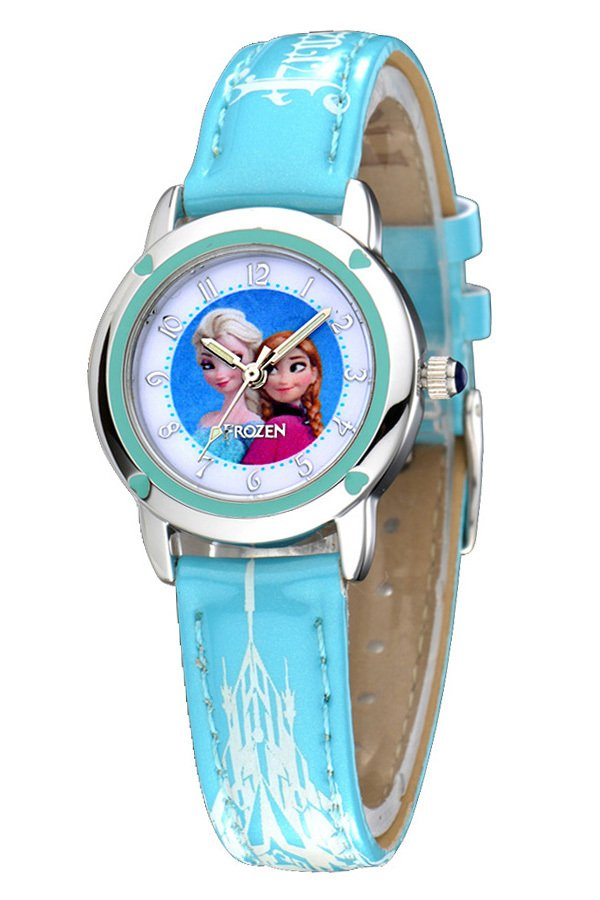 Disney Princess Frozen Jam Tangan Anak Biru Muda Leather Strap Fz5460 L1 Disney Murah Di Indonesia
