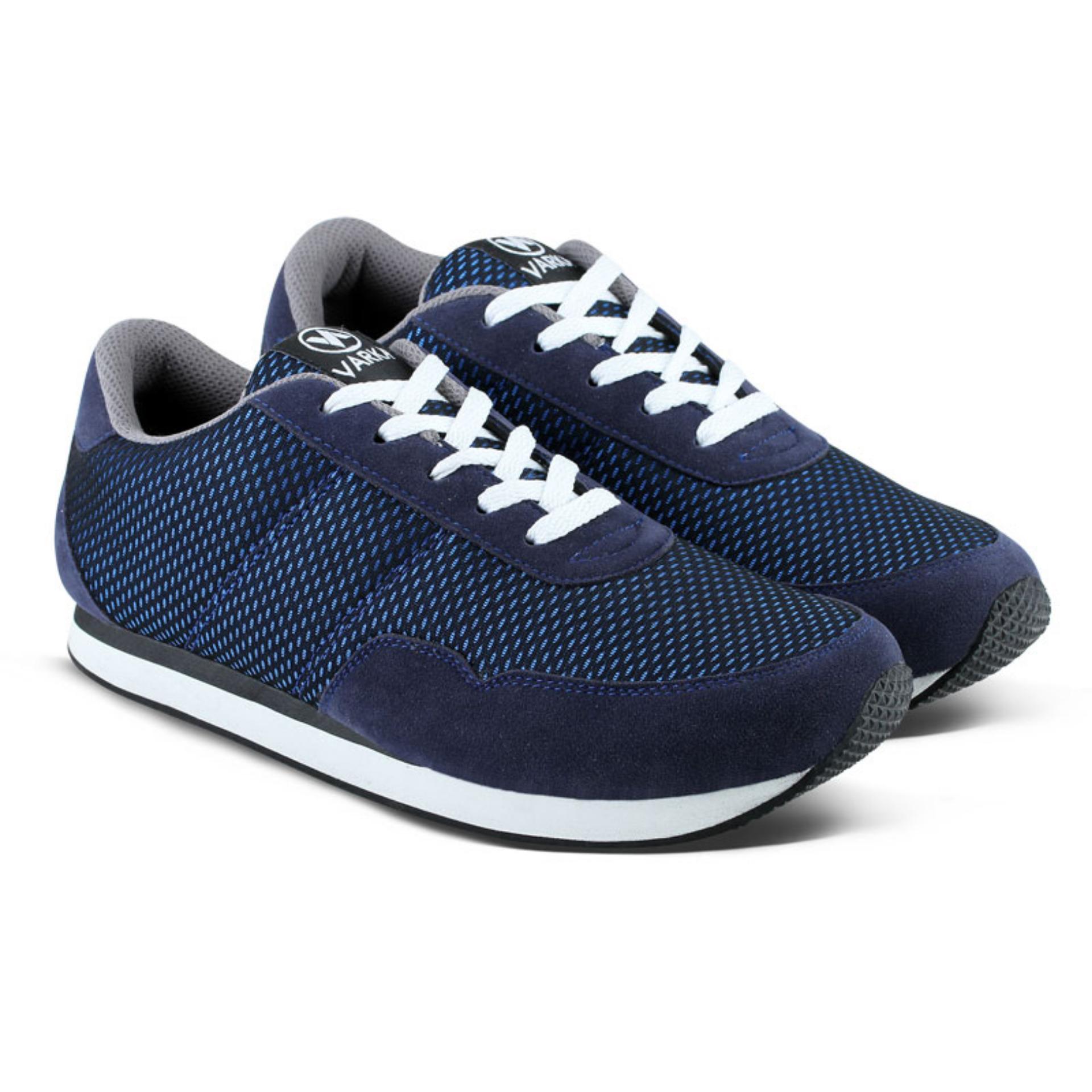 Dapatkan Segera Distro Bandung Vr 090 Sepatu Sneakers Bisa Untuk Olahraga Lari Dan Joging Navy