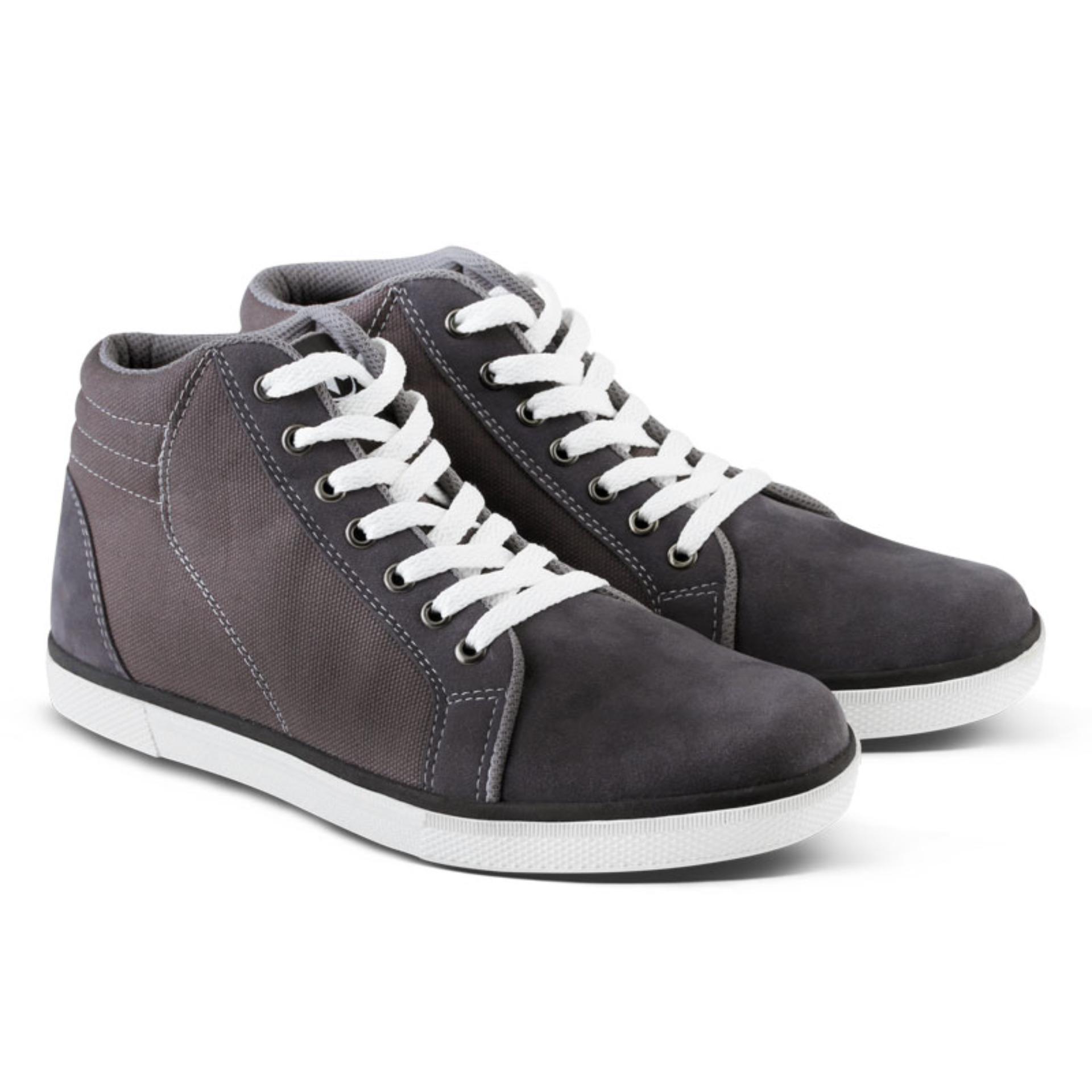 Distro Bandung VR 108 Sepatu Boot Sneakers Casual Pria - Abu