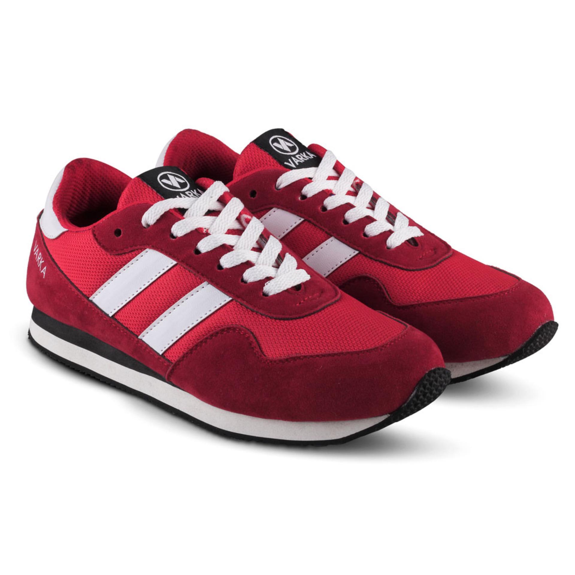 Distro Bandung VR 352 Sepatu Sneaker Olahraga Lari dan Joging Pria - Merah