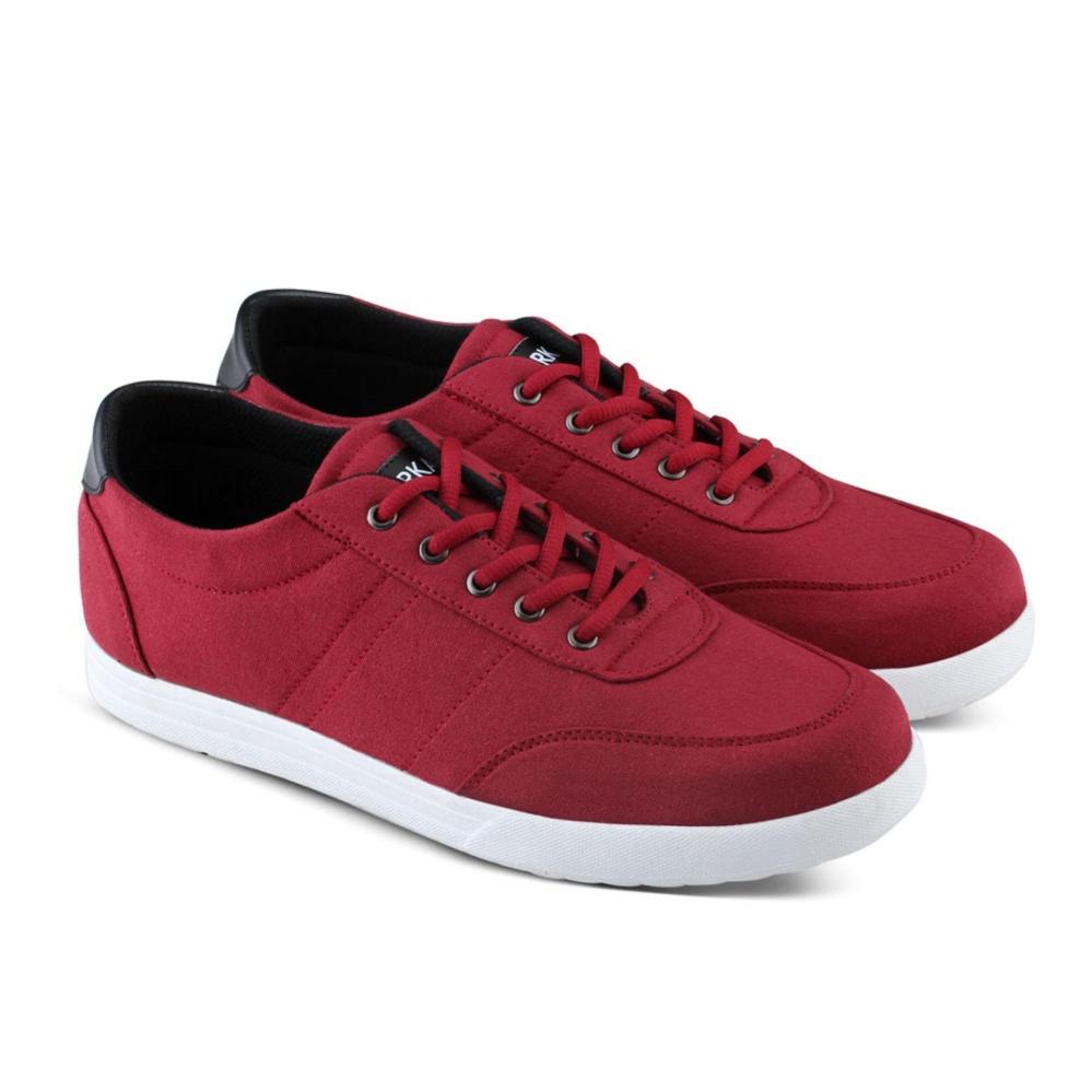 Distro DB 487 Sepatu Sneakers Kets dan Kasual Pria utk sekolah, kuliah, kerja, jalan - Merah