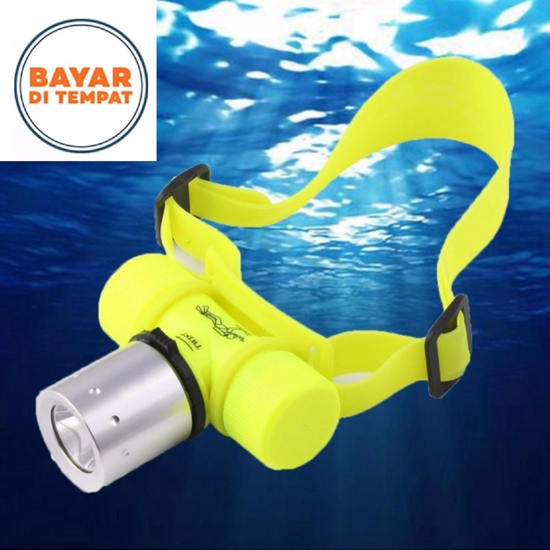 Diving Flashlight XML T6 1000 Lumen Underwater 50m Waterproof LED Headlamp Senter Kepala Selam Tahan Air