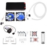 Miliki Segera Diy 240Mm Cooler Cpu Gpu Blok Pump Reservoir Led Fan Heat Sink Komputer Water Cooling Kit Intl