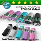 Beli Diy Exchangeable Cell Power Bank Case For 2Pcs 18650 Multi Dengan Harga Terjangkau