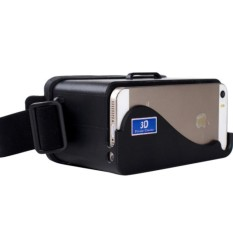 DIY Plastic Cardboard Head Mount VR for iPhone 5 Smartphone s4273 - Black