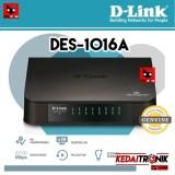 Beli Dlink Des 1016A Desktop Switch Hub 16 Port D Link Lan Internet Plastik Multi Murah