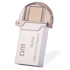 Dm Pd019 16 Gb Usb 3 Micro Usb Otg Tipe C 3 1 Dual Double Plug U Disk Silver Tiongkok