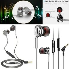 DM9 3.5mm Jack HI FI In-Ear Logam Earphone Headphone Auriculares Super Clear Kebisingan Isolating Headset Stereo Bass dengan MIC DJ untuk MP3 MP4 IPhone Android-Intl
