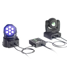 DMX512 Optik Splitter 8 Saluran Distribusi Amplifier untuk Pesta DJ Tampilkan Club Disco KTV Stage Light-Intl