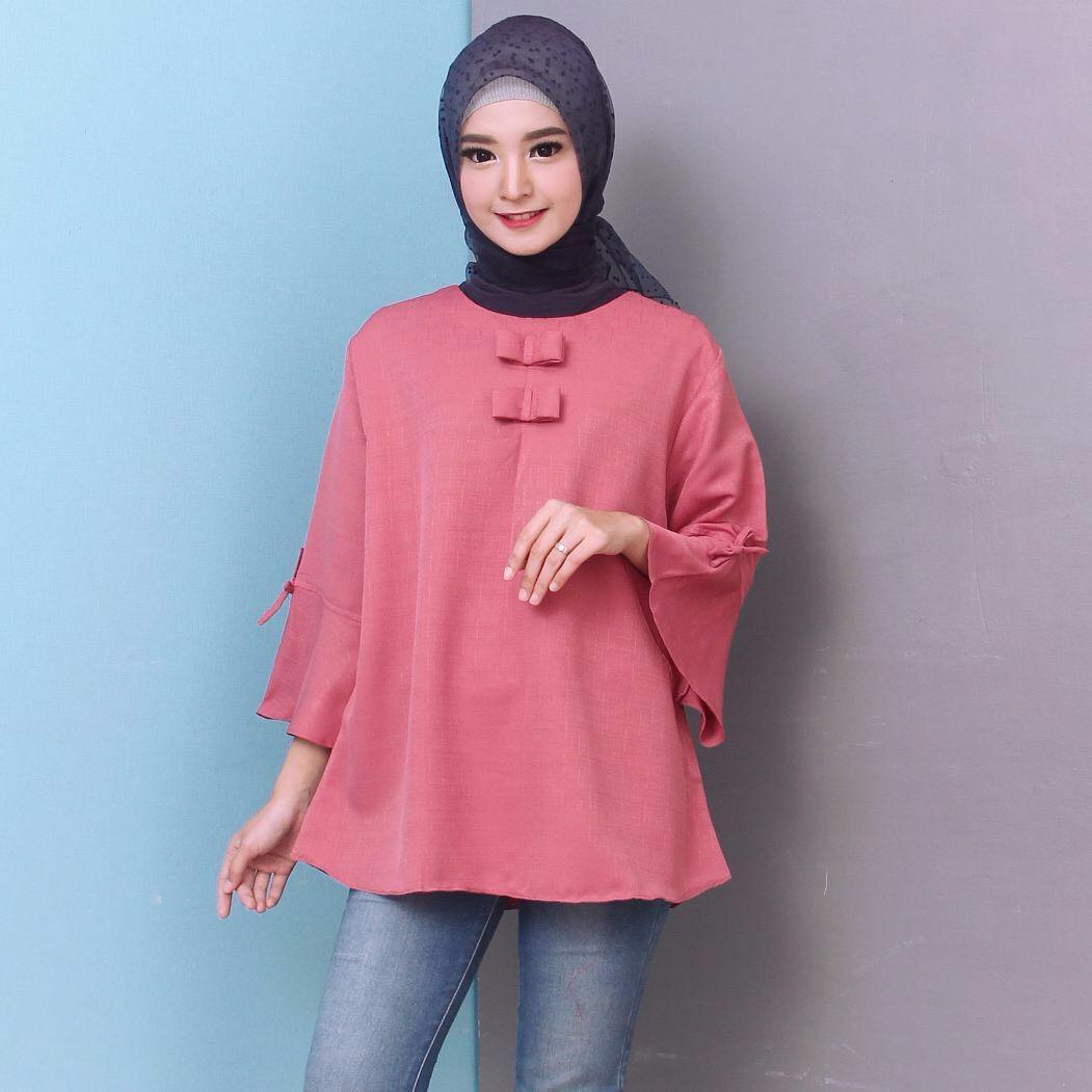 Dnd Baju Atasan Muslim Wanita Blous Jumbo Baju Tunik Baju Muslim Blus Muslim Tunik Diskon 30