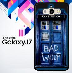 Doctor Who TARDIS Bad Wolf Blue L1233 Samsung Samsung Galaxy J7 2015 SM-J700 Case