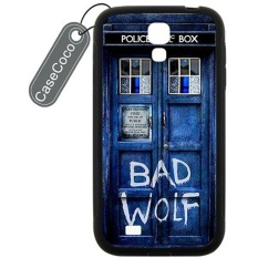 Doctor Who TARDIS Bad Wolf Custom Hard Plastic & Rubber Case untuk Samsung Galaxy S4-Galaxy S4 Case Cover -Intl