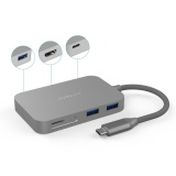 Harga Dodocool Usb C Hub 7 In 1 Bahan Aluminium Alloy Dengan Port Charging Tipe C Output Video Hd 4K Sd Tf Card Reader Dan 3 Superspeed Usb 3 For Macbook Macbook Pro Google Chromebook Pixel Warna Abu Abu Dan Spesifikasinya