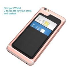 Dodocool Ultra-Slim Diri Perekat Kredit Tempat Kartu 2 Slot Stick-On Dompet untuk iPhone 7 Plus/7/ 6 S Plus/6 S/6 Plus/6 Smartphone Mawar Merah-Intl