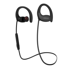 dodocool Wireless Stereo Sports In-Ear Headphone IPX5 Splash-proof with In-line Remote HD Mic CVC 6.0 Noise Cancellation Multipoint Connection 17 Hours Playtime for iPhone/iPad/iPod/Samsung S8 and Most Popular Smartphones Tablets Black - intl