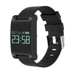 DOMINO DM68 0.95 Inch Layar Sentuh Bluetooth NRF51822 (M0) Smart Gelang untuk IOS dan Ponsel Android, Pedometer/Detak Jantung/Sleep Monitor/Menemukan Ponsel/Sedentary Pengingat (Hitam)-Intl