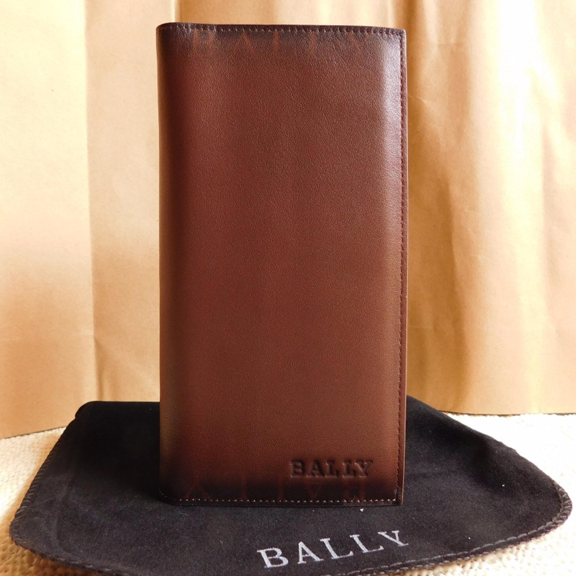 Dompet Pria & Wanita Bally  Leather Wallet Soft  Leather Purse Phone Bag  Good Quality