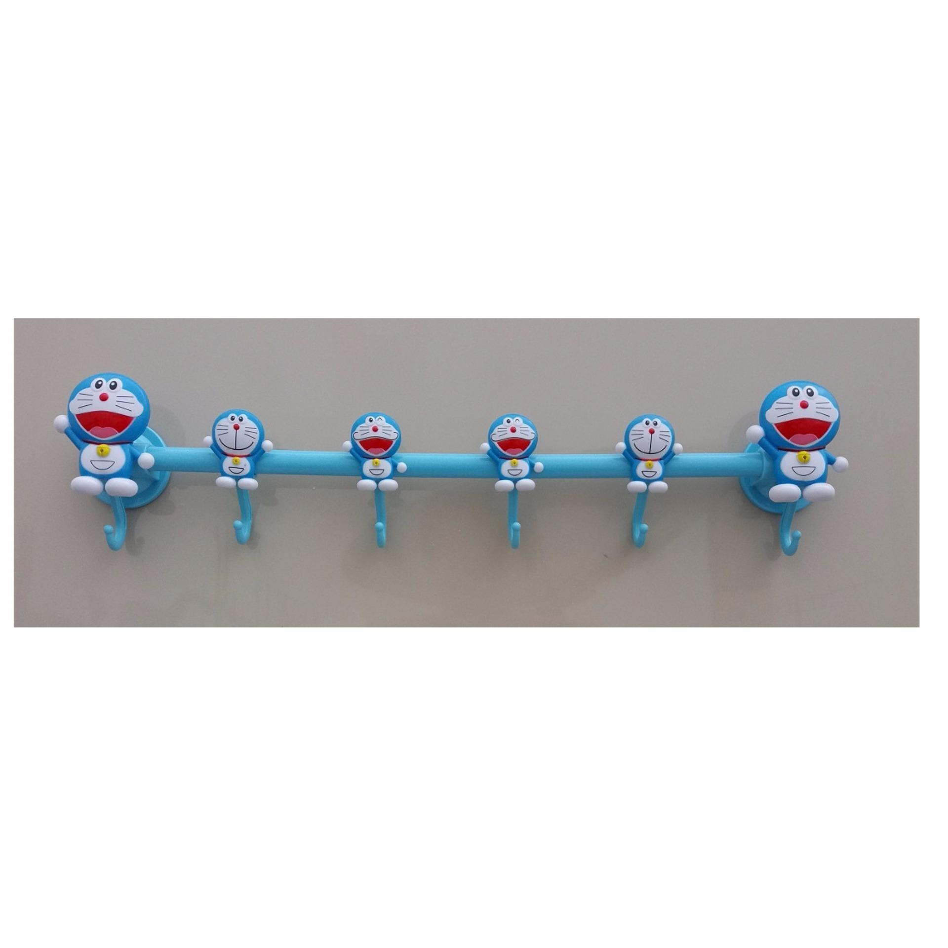 Doraemon Karakter Gantungan Baju 6 Slot