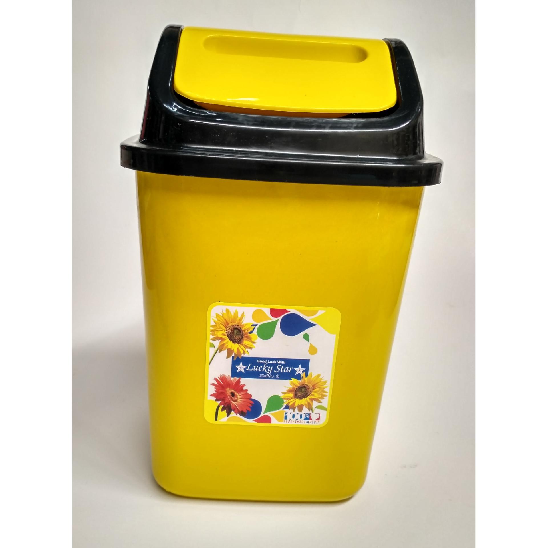 Dos Keranjang Sampah / Tempat Sampah Warna Dengan Tutup 5 Liter By Dos.
