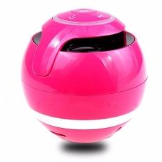 DOTEC Bluetooth Speaker Mini Portable Wireless Speaker SoundbarSuper Bass BOOMBOX Kotak Suara dengan MIC TF Kartu FM Radio LED Light Hitam-Intl