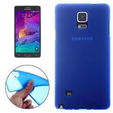 Ganda Beku Tpu Case Anda Samsung Galaksi Note 4 (Biru Tua)-Internasional