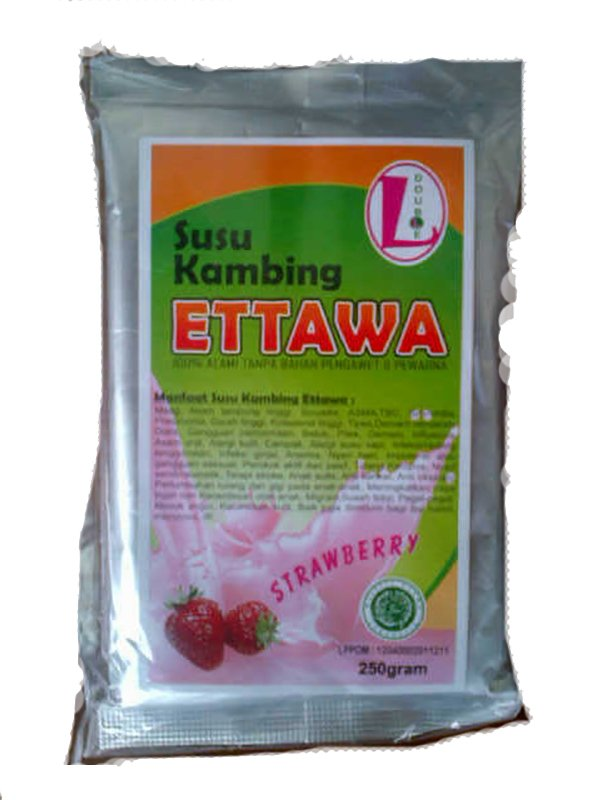 Double L Susu Kambing Ettawa Strawberry 250 Gr Original