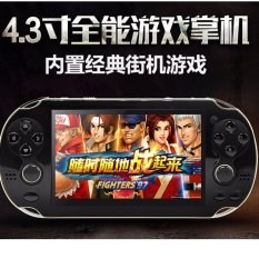 Double Rockers Handheld Game Player 4gb 4.3 inch Video Game Portatil 2017 Portable Game Console Free Download Camera TV Out(Black) - intl