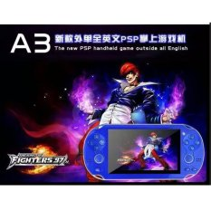 Double Rocker Handheld Game Player 4 GB 4.3 Inch Video Game Portatil 2017 Portable Game Console Free Download Kamera TV Out (Biru) -Intl